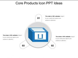 Core Products Icon Ppt Ideas