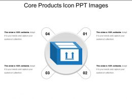 Core Products Icon Ppt Images
