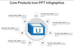 Core Products Icon Ppt Infographics