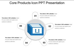 Core Products Icon Ppt Presentation