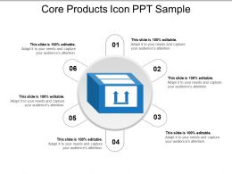 Core Products Icon Ppt Sample