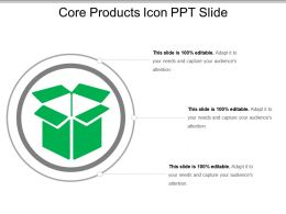 Core Products Icon Ppt Slide