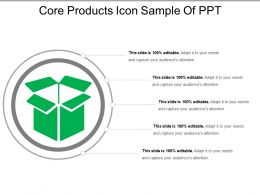 Core Products Icon Sample Of Ppt