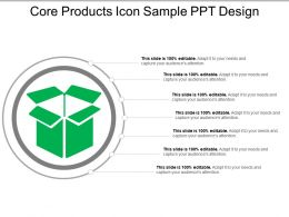 Core Products Icon Sample Ppt Design