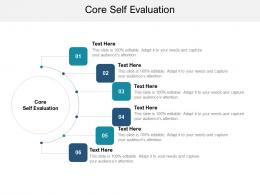 Core Self Evaluation Ppt Powerpoint Presentation Infographic Template Deck Cpb