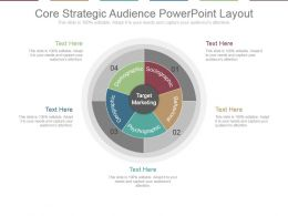 Core Strategic Audience Powerpoint Layout