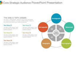 Core Strategic Audience Powerpoint Presentation