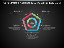 Core Strategic Audience Powerpoint Slide Background