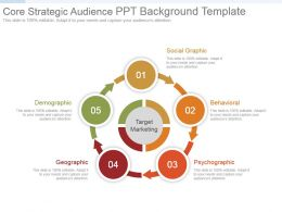 Core Strategic Audience Ppt Background Template