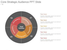 Core Strategic Audience Ppt Slide
