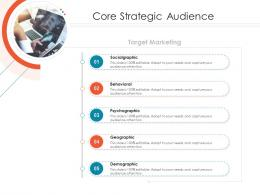 Core Strategic Audience Target Online Marketing Tactics And Technological Orientation Ppt Icons