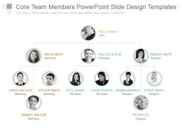 Core Team Members Powerpoint Slide Design Templates