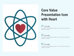 Core Value Presentation Icon With Heart