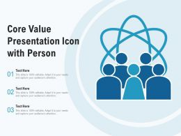 Core Value Presentation Icon With Person