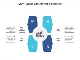 Core Value Statement Examples Ppt Powerpoint Presentation Gallery Ideas Cpb