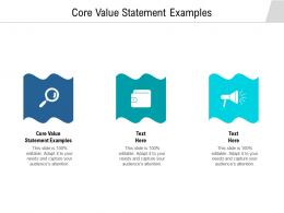Core Value Statement Examples Ppt Powerpoint Presentation Layouts Background Cpb