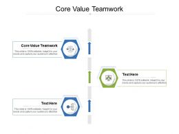 Core Value Teamwork Ppt Powerpoint Presentation Summary Information Cpb