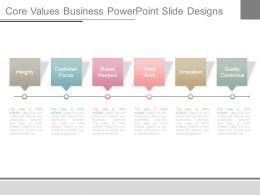 Core Values Business Powerpoint Slide Designs