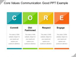 Core Values Communication Good Ppt Example