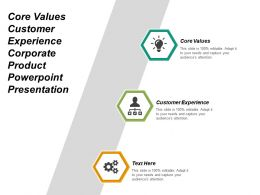 Core Values Customer Experience Corporate Product Powerpoint Presentation Cpb