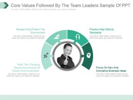Core Values Followed By The Team Leaders Sample Of Ppt