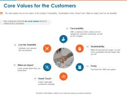 Core Values For The Customers Ppt Powerpoint Presentation Gallery Show
