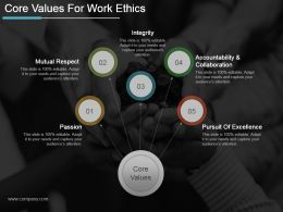 Core Values For Work Ethics Powerpoint Slide Presentation Tips