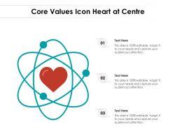 Core Values Icon Heart At Centre