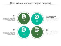 Core Values Manager Project Proposal Ppt Powerpoint Presentation Professional Topics Cpb