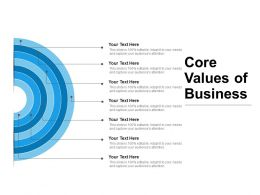 Core Values Of Business Powerpoint Layout