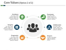 Core Values Powerpoint Slide Background Designs