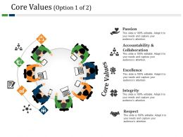 Core Values Powerpoint Slide Backgrounds