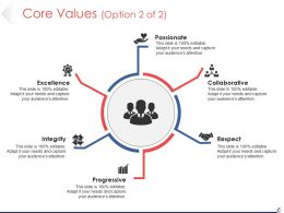 Core Values Powerpoint Slide Clipart Template 1
