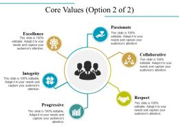 Core Values Powerpoint Slide Templates