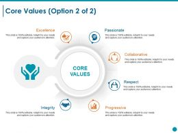 Core Values Ppt Styles Format
