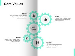 Core Values Vision Quality Ppt Powerpoint Presentation Icon Templates