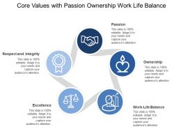 Core Values With Passion Ownership Work Life Balance