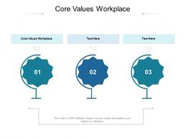 Core Values Workplace Ppt Powerpoint Presentation Professional Example Introduction Cpb