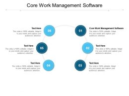 Core Work Management Software Ppt Powerpoint Presentation Styles Show Cpb