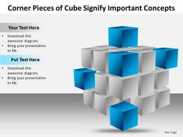 corner pieces of cube signify important concets powerpoint templates images 1121
