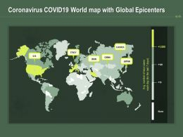 Coronavirus COVID19 World Map With Global Epicenters Ppt Powerpoint Presentation Guide