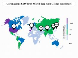 Coronavirus COVID19 World Map With Global Epicenters