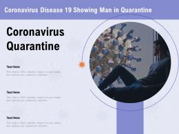 Coronavirus Disease 19 Showing Man In Quarantine Attention Ppt Powerpoint Presentation Layout Ideas