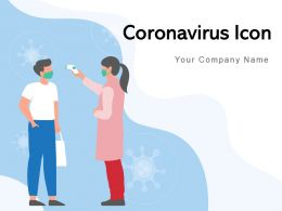 Coronavirus Icon Eliminating Disease Individual Quarantined Location Transmission