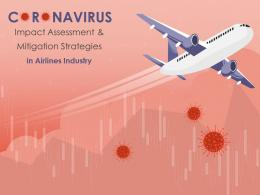 Coronavirus Impact Assessment And Mitigation Strategies In Airlines Industry Complete Deck