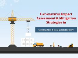 Coronavirus Impact Assessment And Mitigation Strategies In Construction And Real Estate Complete Deck
