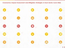 Coronavirus Impact Assessment And Mitigation Strategies In Gym Sector Icons Slide Ppt Powerpoint Presentation File