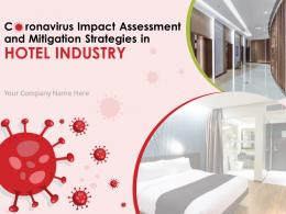 Coronavirus Impact Assessment And Mitigation Strategies In Hotel Industry Complete Deck