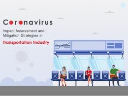 Coronavirus Impact Assessment And Mitigation Strategies In Transportation Industry Complete Deck