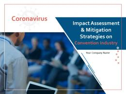 Coronavirus Impact Assessment And Mitigation Strategies On Convention Industry Complete Deck